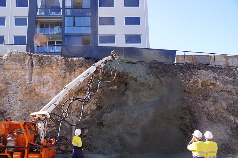 Earthwork Supervision - Shotcrete fibre reinforced treatment supervision